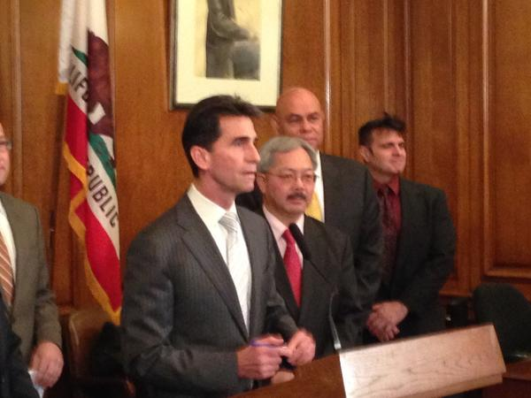 State Sen. Mark Leno with SF Mayor Ed Lee