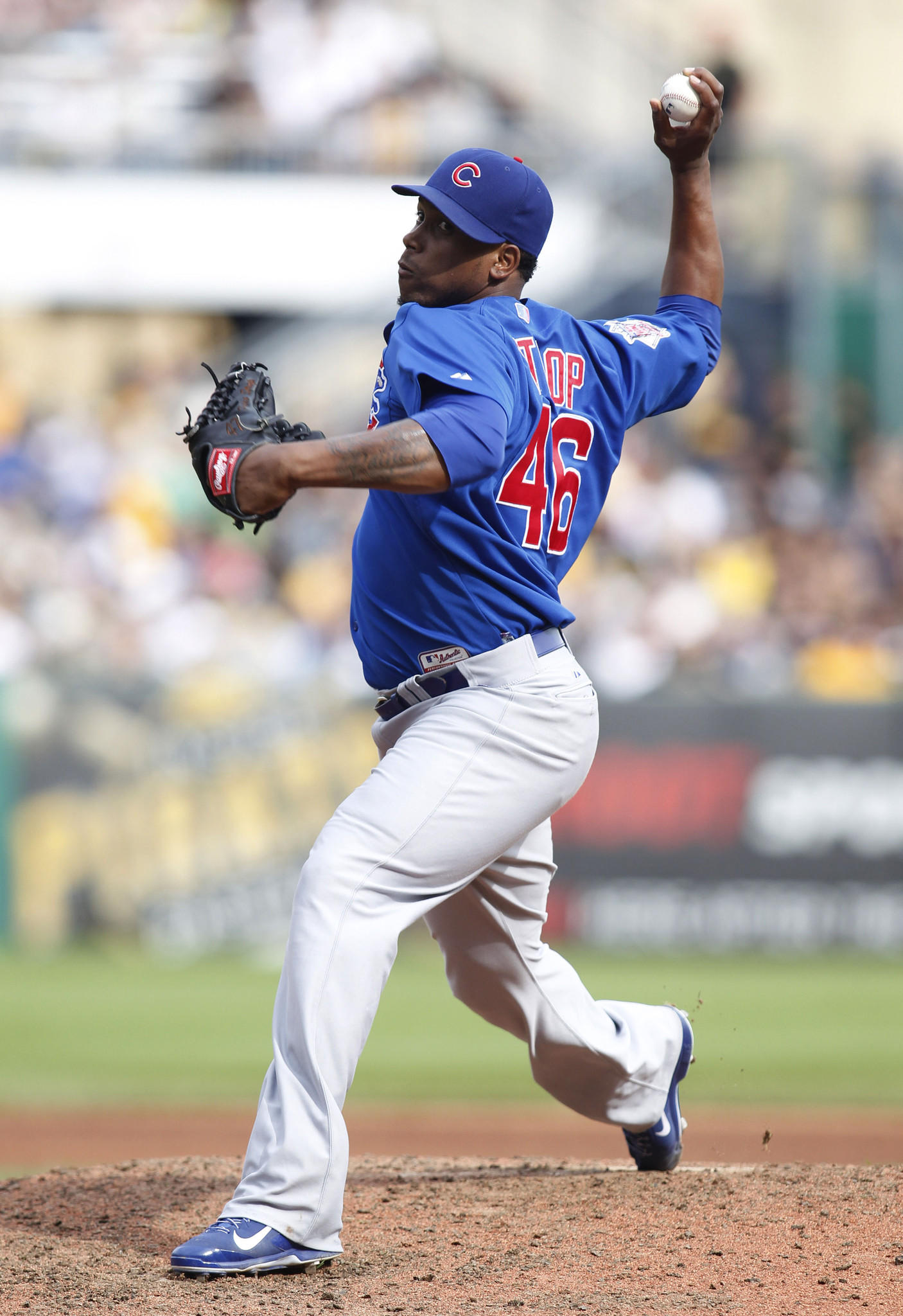 Cubs relief pitcher Pedro Strop during a game in September.