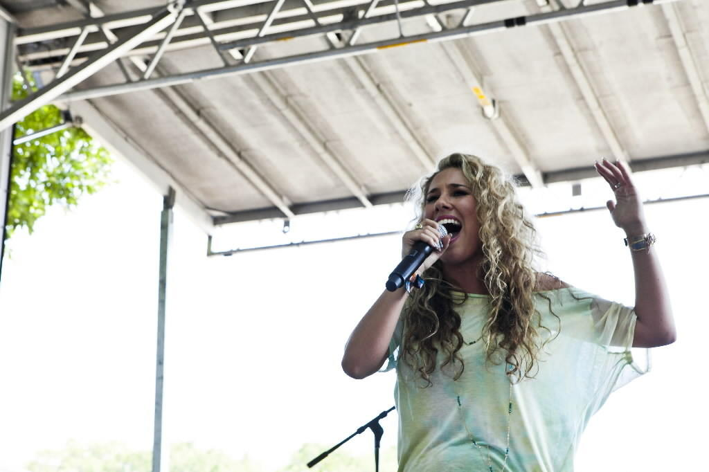 Singer Haley Reinhart performs at Lollapalooza in Grant Park Aug. 3, 2012
