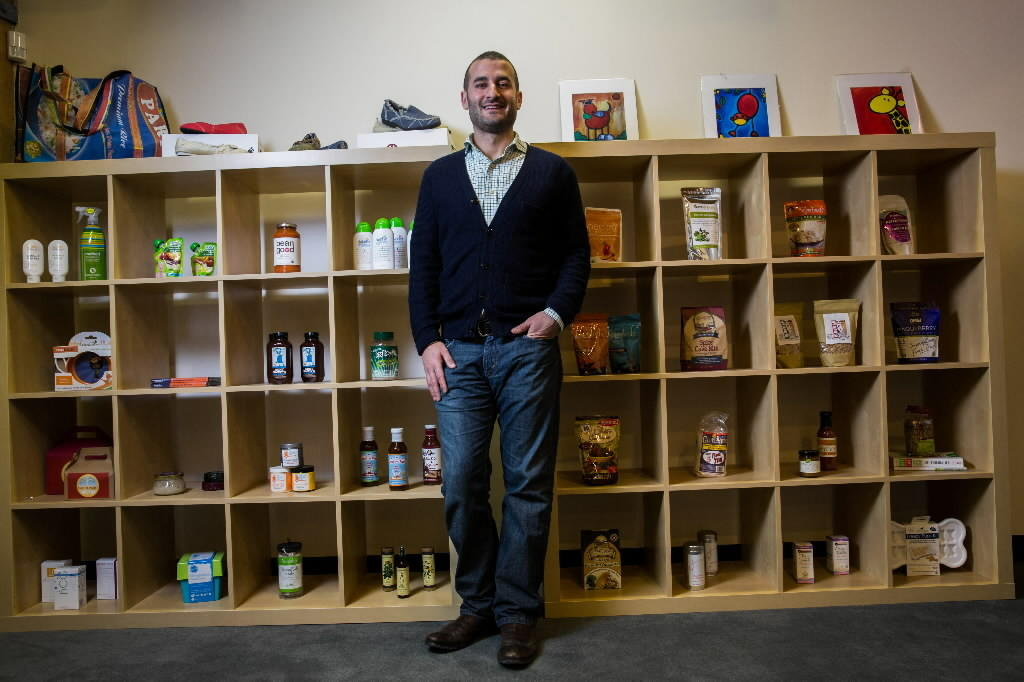 Richard Demb, CEO of Abe's Market in its new River North headquarters in Chicago on Tuesday, February 12, 2013.