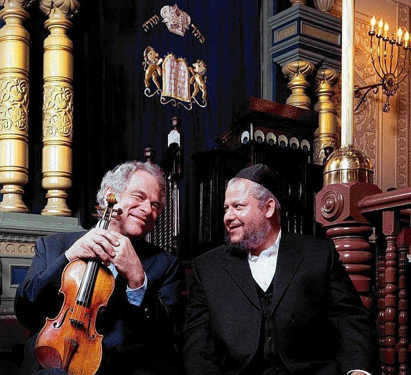 Violin virtuoso Itzhak Perlman and Cantor Yitzchak Meir Helfgot will perform together in March at the Festival of the Arts Boca.
