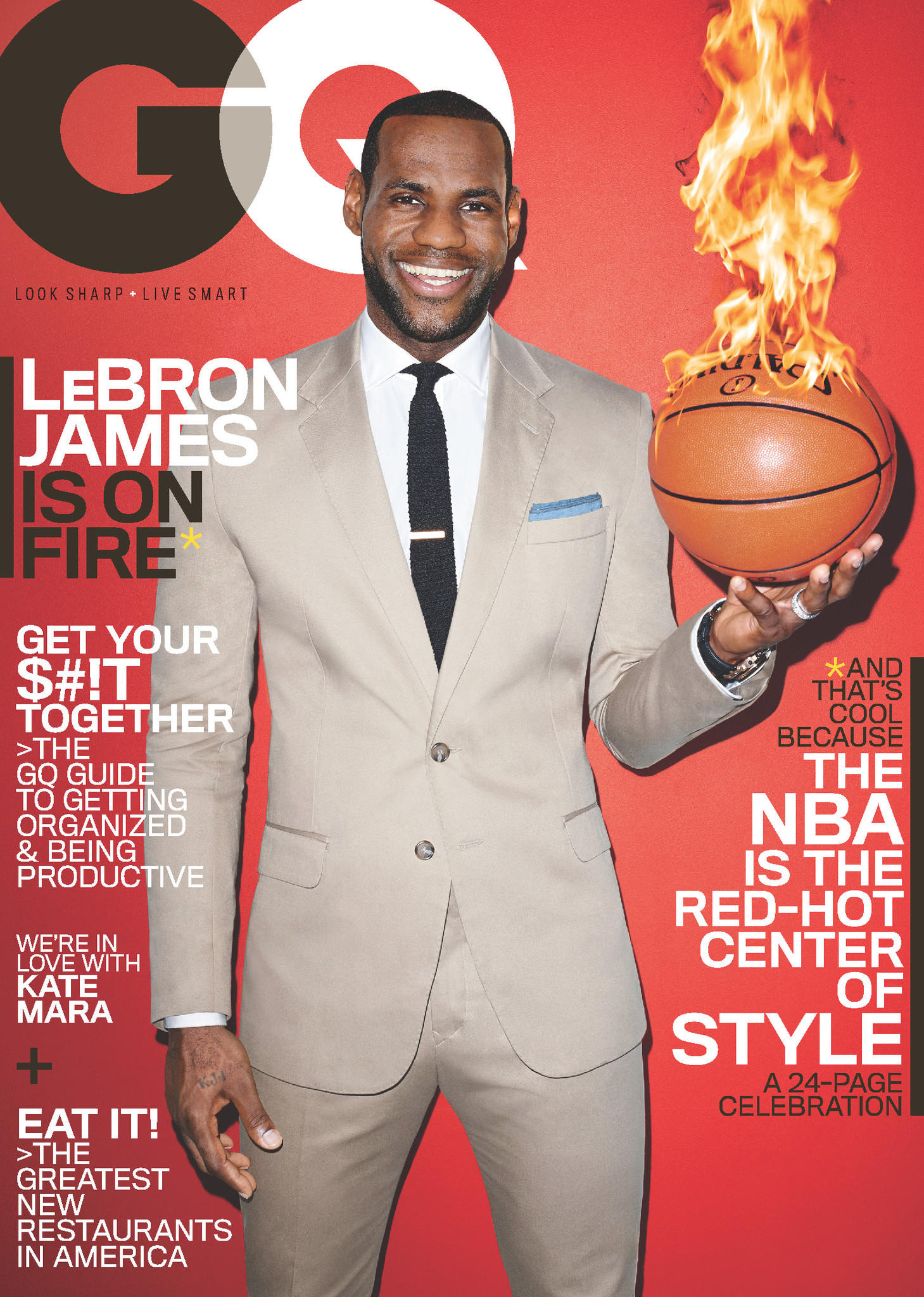 LeBron James gives GQ an interview in their March issue.
