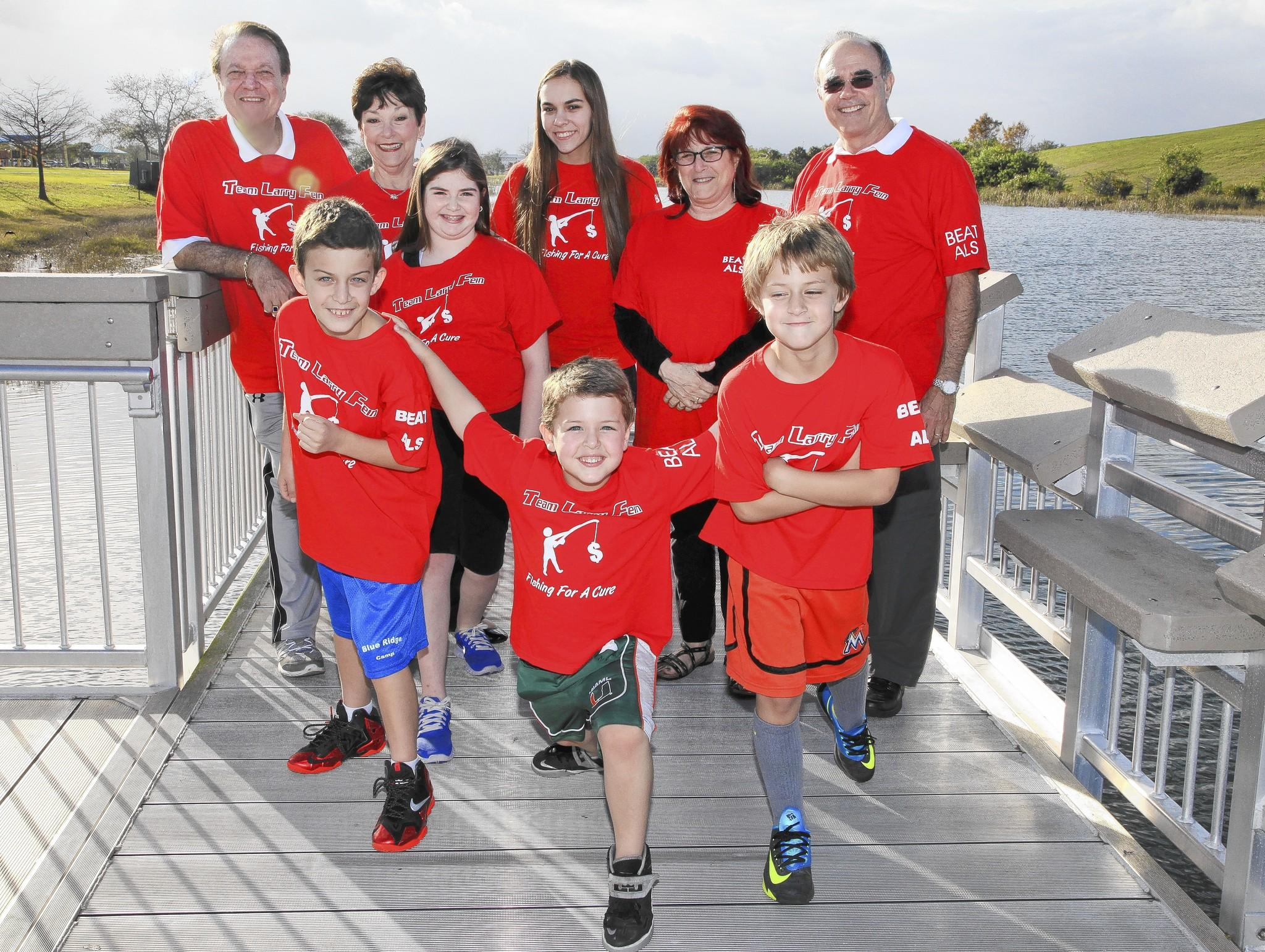 Harris Aversa, 10, left; Parker Aversa, 5, Blake Aversa, 8, back, Joe Aversa, Linda Aversa, Hannah Aversa, 11, Francesca Marinello, 14, Nancy Green and Launcy Pearson