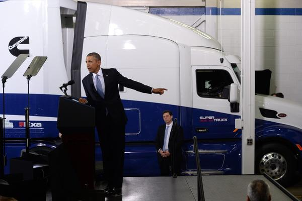 President Obama truck fuel efficiency