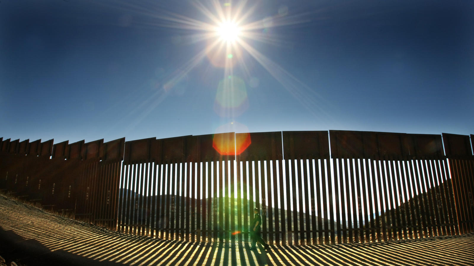 A portion of the U.S.-Mexico border fence at Otay Mountain, Calif. (Don Bartletti / Los Angeles Times)