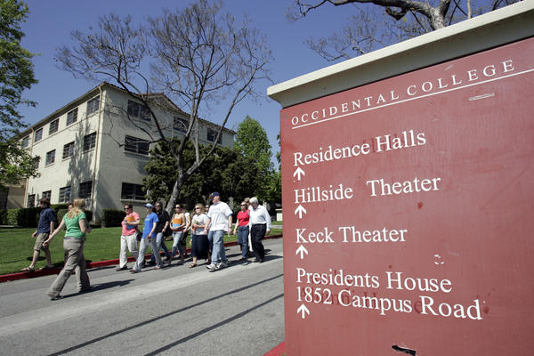 In what appears to be a national first among colleges, Occidental College has banned any future