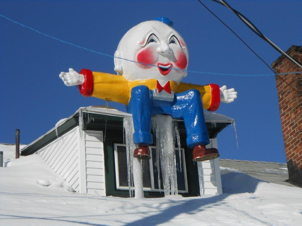 This Humpty Dumpty nursery rhyme character at Quassy Amusement & Waterpark in Middlebury.