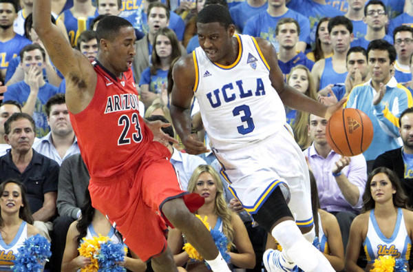 Guard Jordan Adams and UCLA came up short against forward Rondae Hollis-Jefferson and Arizona, 79-75, in their only Pac-12 Conference game this season.