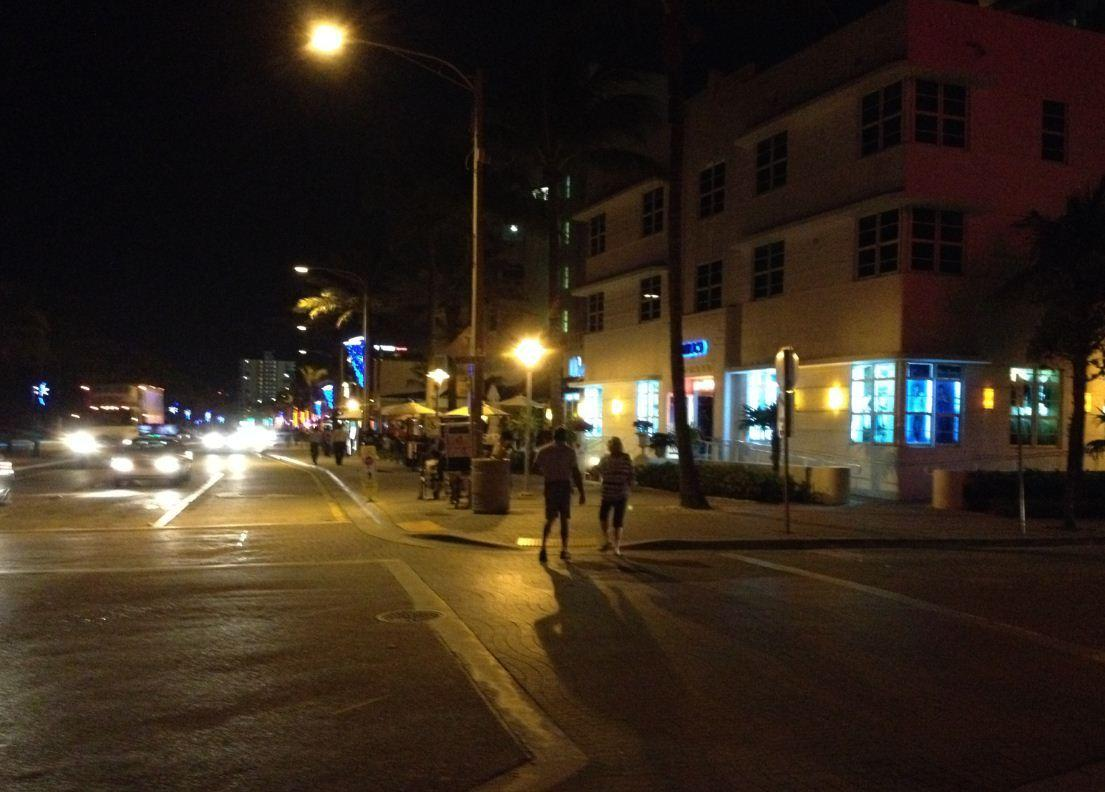 State Road A1A in Fort Lauderdale is quiet after a series of beach brawls on Presidents Day
