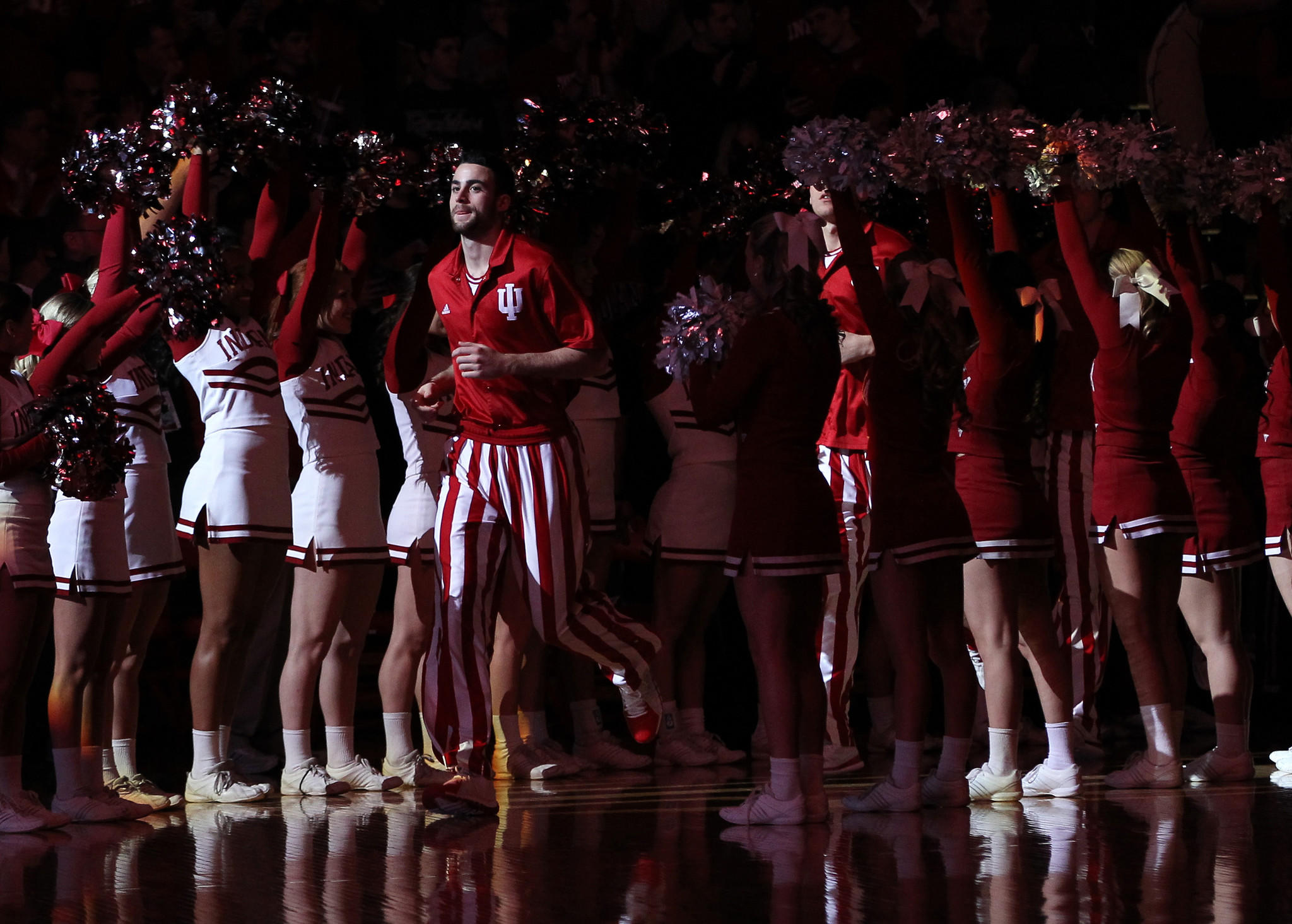 Indiana's Will Sheehey leads the team on to the court before a game earlier this month.