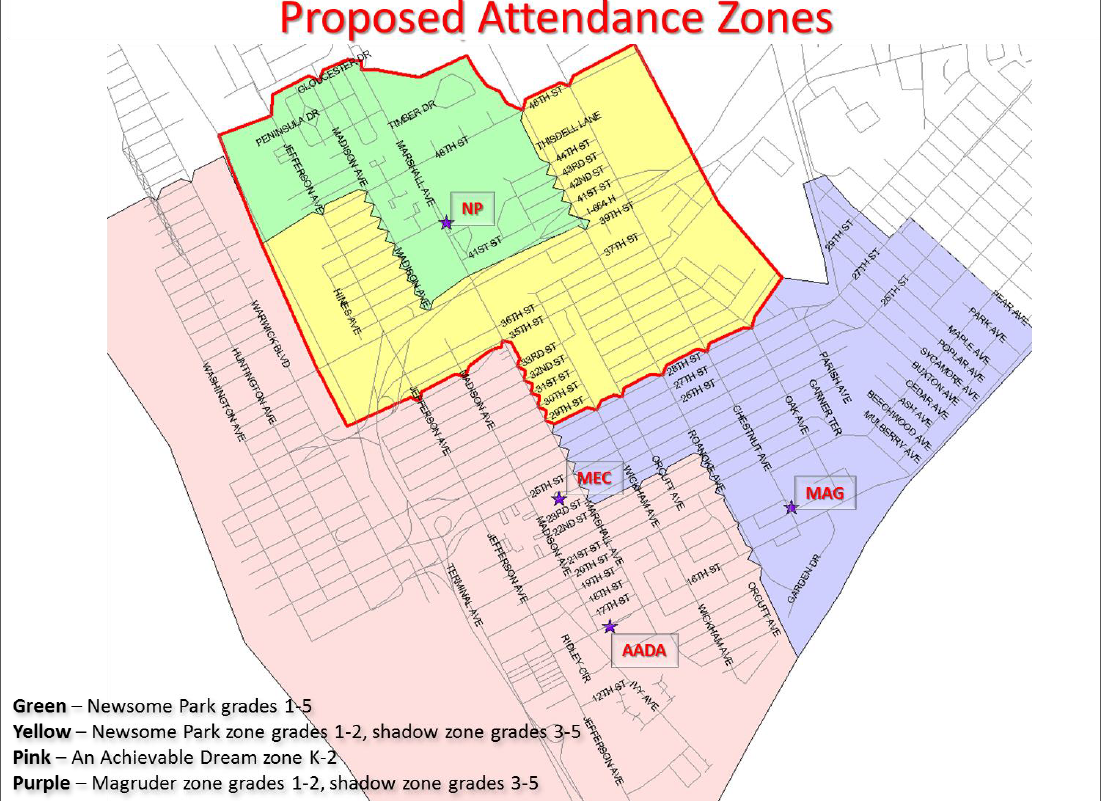 Newport News Public Schools is proposing to change some attendance zones to expand its early learning initiative.