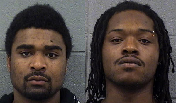 Jemal Ross, 23, (right) and James Dixon, 17, (left) are charged with murder in the Thursday killing of Andre Hughes, 30, behind an apartment building in the 300 block of North Central Avenue where Hughes had been visiting friends moments earlier, prosecutors said.