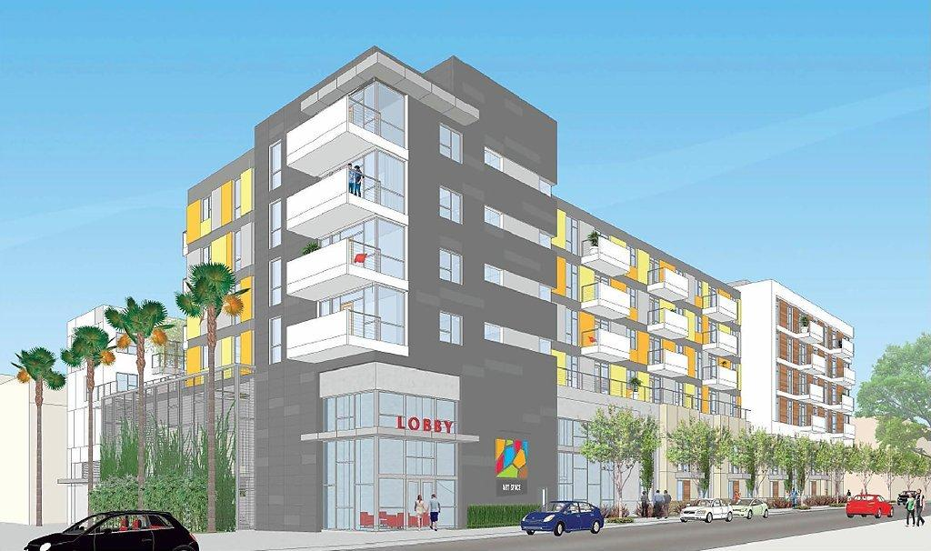 The $29.9 million Glendale Arts Colony planned for 121 North Kenwood Street is a 70-unit affordable housing project that will give preference to households in the creative workforce. (Courtesy of the City of Glendale)