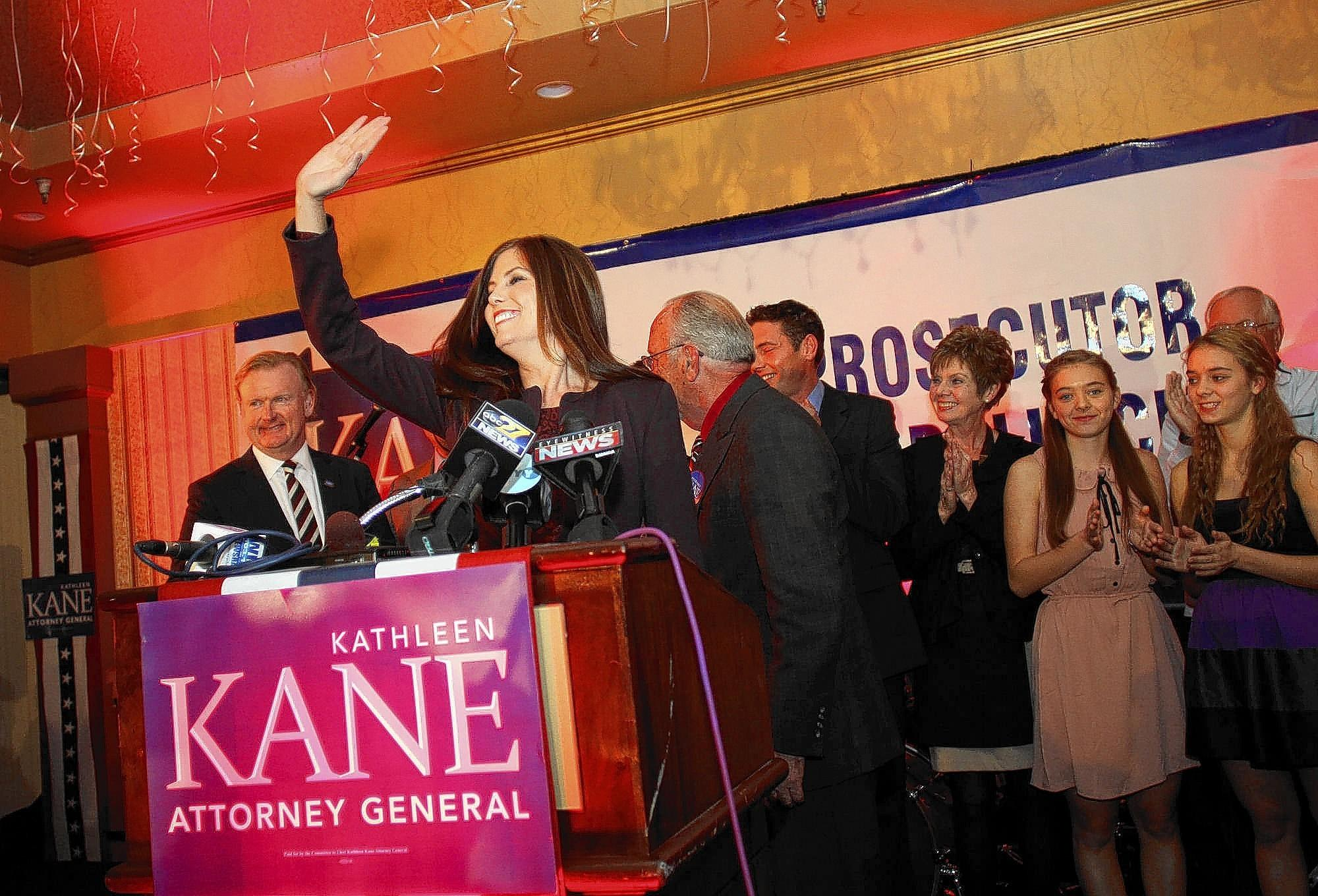Seventy days before she took an oath to uphold the law while being sworn in, Kathleen Kane celebrated her election as Pennsylvania attorney general on Nov. 6, 2012.