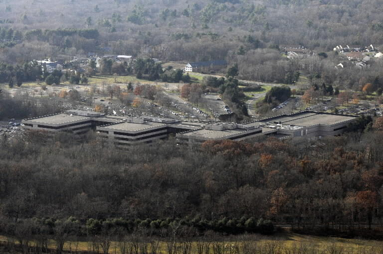 A file photo of The Hartford's sprawling Simsbury campus.