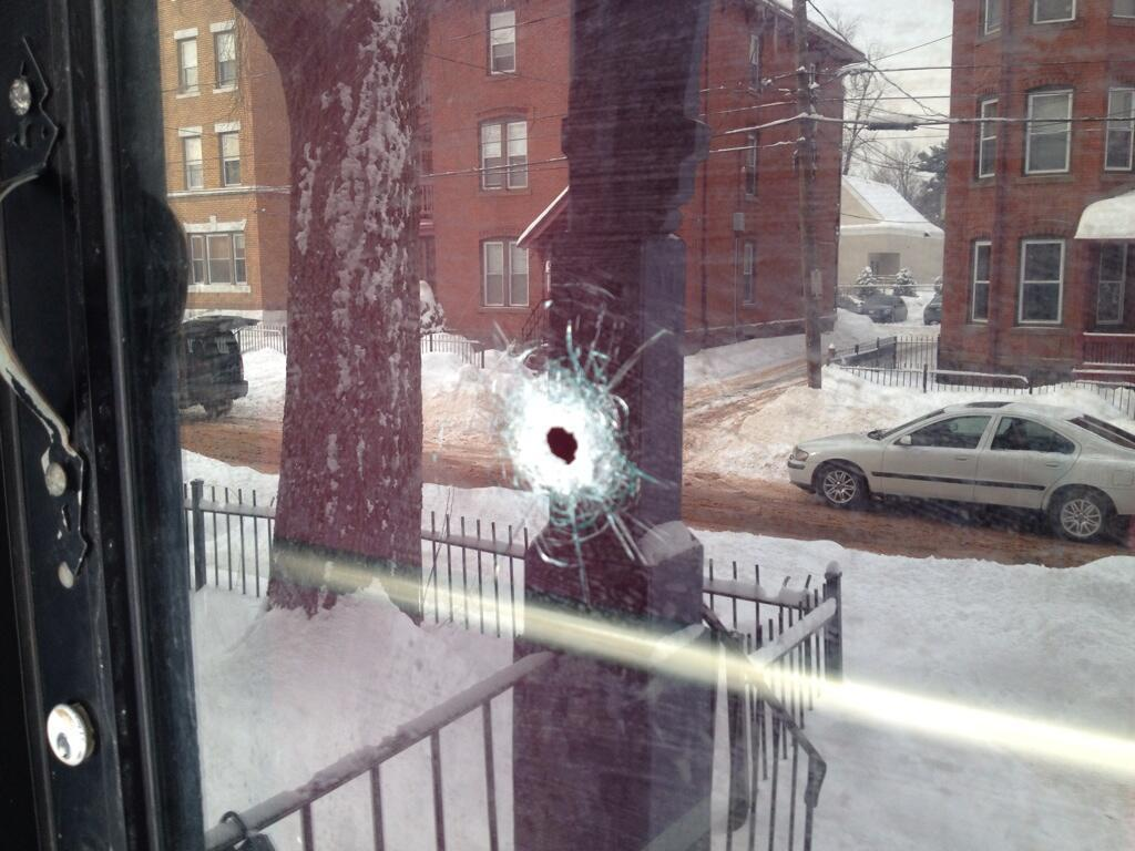 Multiple bullet holes were found at 33 Seyms St in Hartford Wednesday morning.