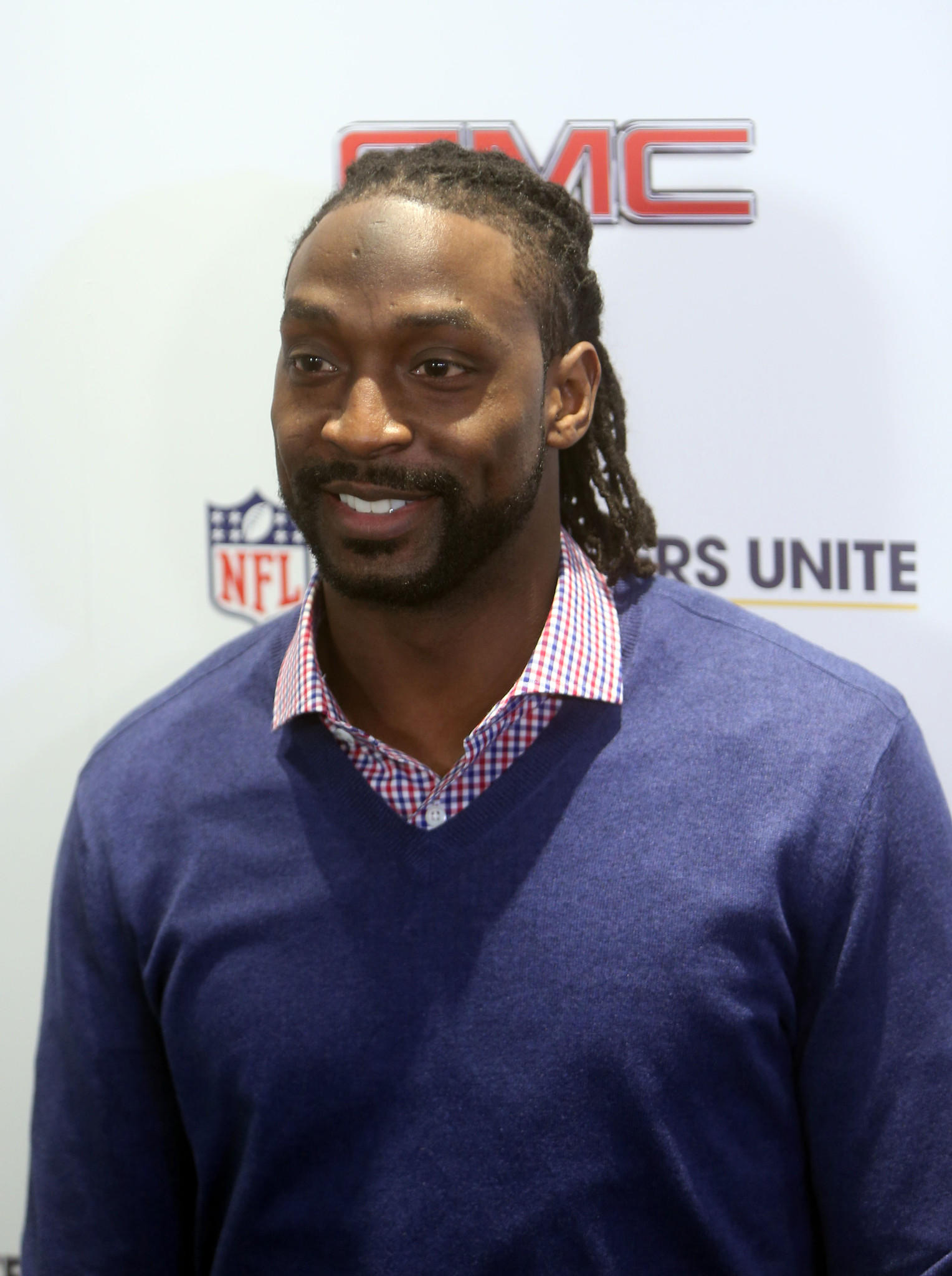 Chicago Bears cornerback Charles Tillman on the red carpet during the Characters Unite event in advance of Super Bowl XLVIII.