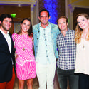 """Sean Ferrara, left, Lilly Leas, Chris Leidy, Kendall Cheatham and Mary Brittain Cheatham looked stylish in their """"Palm Beach Chic"""" for the recent Caron and Hanley Treatment Centers' """"Glow"""" gala at The Breakers in Palm Beach."""