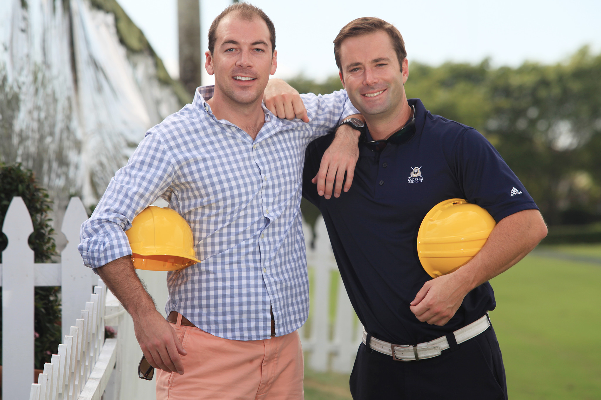 Society Scene photos - Brad Caldwell, left, and Chris Knapp will attend YMCA of the Palm Beaches
