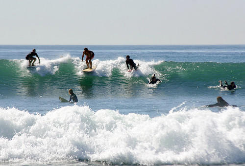 Surfers at Windansea Beach