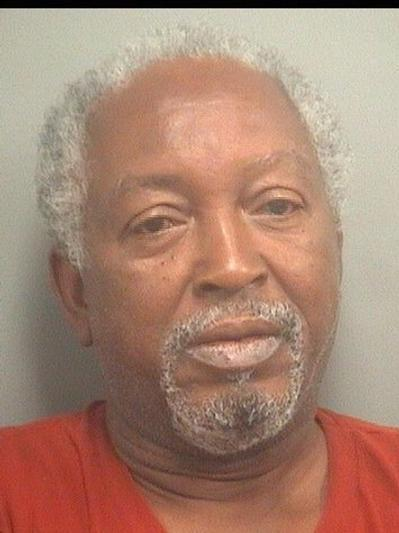 James Evans, 58, of West Palm Beach, is accused of raping a 77-year-old woman in her bedroom.