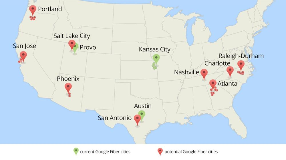 Google Fiber planning major expansion to San Jose 33 other cities