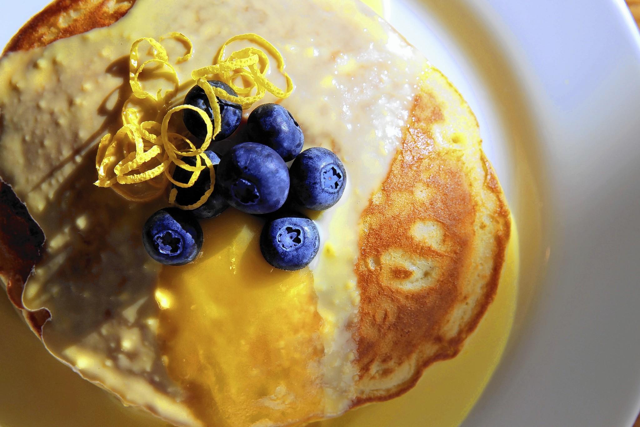 The lemon pancakes served at Kingsbury St. Cafe.