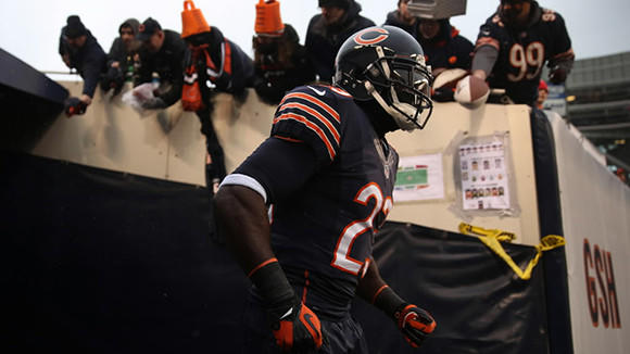 Chicago Bears' Devin Hester heads out to the field before playing Green Bay Packers during NFL game at Soldier Field on Sunday, Dec. 29, 2013.