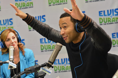"Musician John Legend visits ""The Elvis Duran Z100 Morning Show"" at Z100 Studio on Feb. 19 in New York City."