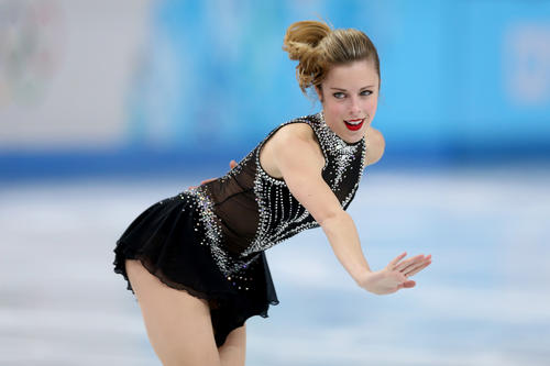 Ashley Wagner of the United States competes in the Figure Skating Ladies' Short Program on day 12 of the Sochi 2014 Winter Olympics at Iceberg Skating Palace on Feb. 19 in Sochi, Russia.