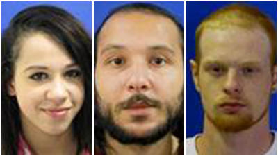Brittany Noel Smith, 22, Michael Jay Smith Jr., 23 and Eric Wayne Glascoe, 22, were all arrested and charged with armed robbery and other offenses in connection with the hold up at 7-Eleven on Seventh Street in Laurel.
