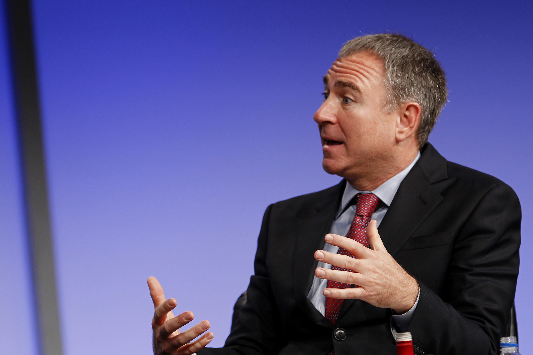 Ken Griffin speaks at the annual Milken Institute Global Conference in Beverly Hills, Calif. last April.