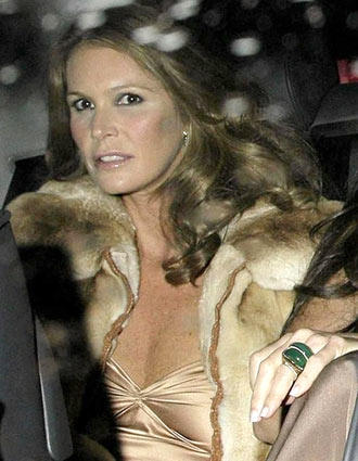 <b>At Hurley wedding</b><br> Elle Macpherson arrives at Sudeley Castle in Winchcombe, England, on March 3 to attend the wedding of model-actress Elizabeth Hurley and businessman Arun Nayar. The pair married in a private civil ceremony at the castle, 125 miles west of London.