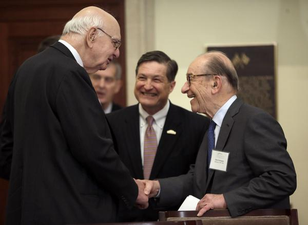 Jeffrey M. Lacker, Paul Vocker, Alan Greenspan