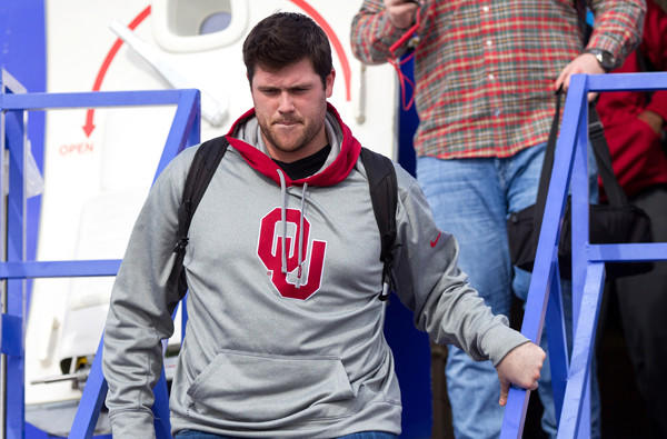 Oklahoma offensive lineman Gabe Ikard owned up to being a pasta-eating rules violator.