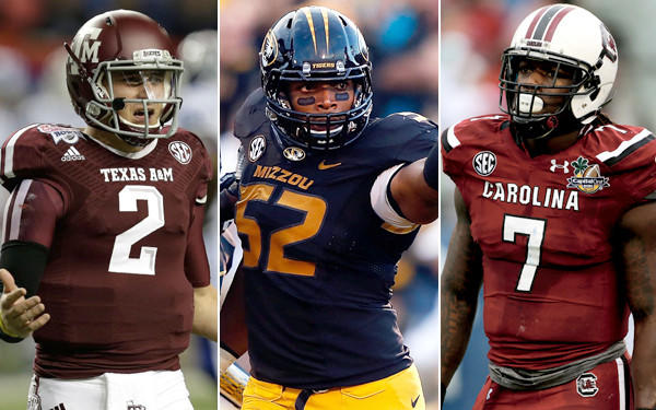 Johnny Manziel, Michael Sam, Jadeveon Clowney