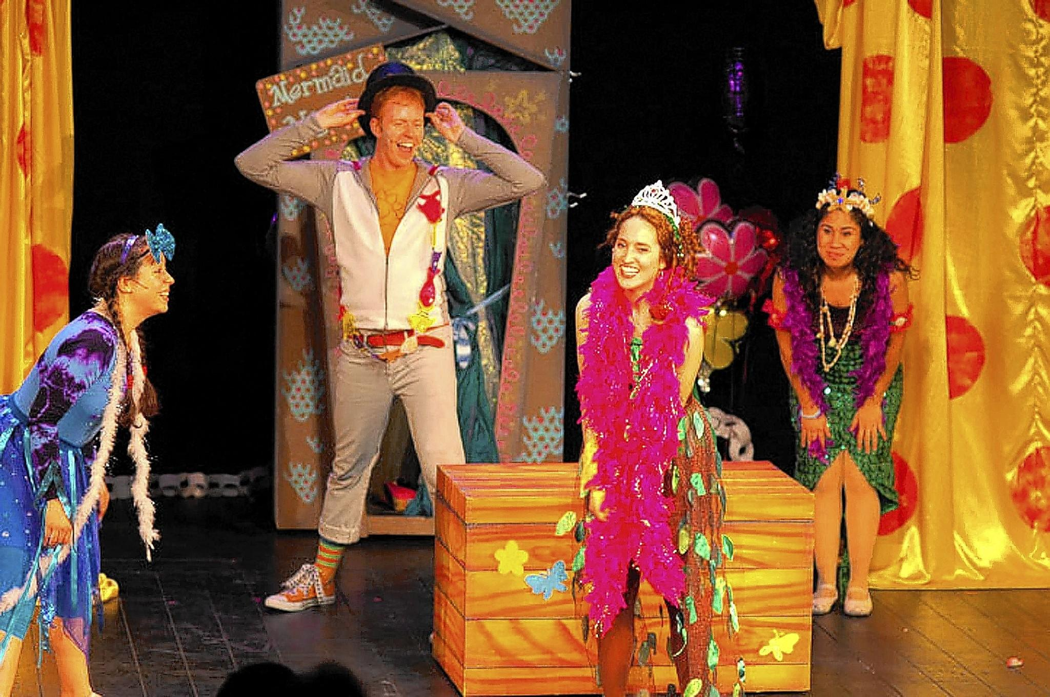 Jes Dugger (from left), Kyle Motsinger, Carly Augenstein and Alex Akin in a scene from 'Fancy Nancy: The Musical,' which comes to Allentown's Symphony Hall on Saturday.