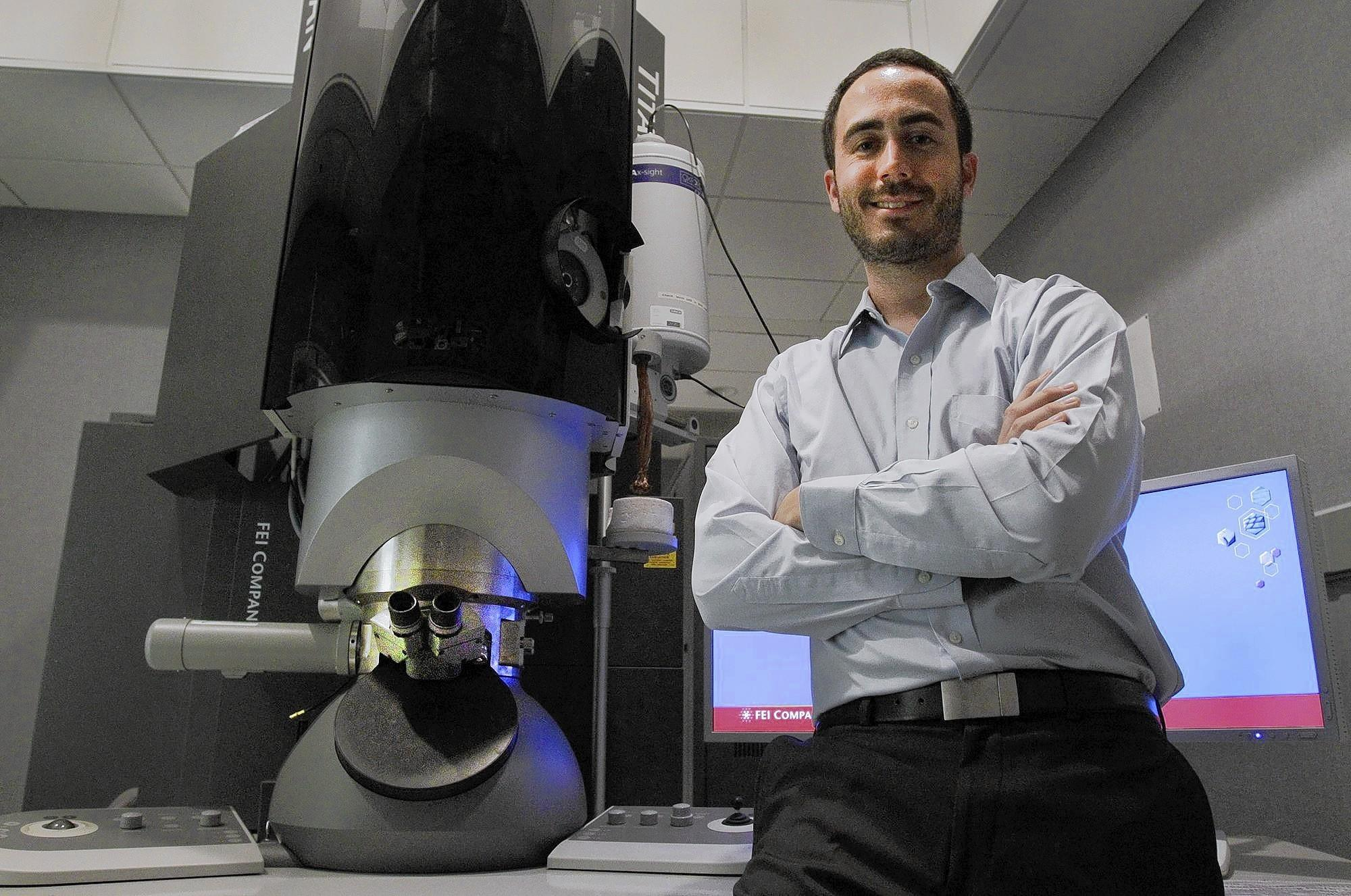 Edward Miracco, a biochemist at UCLA, raised $6,215 through crowdfunding to buy extra time on an electron microscope for his study of an enzyme that helps cancer cells grow.
