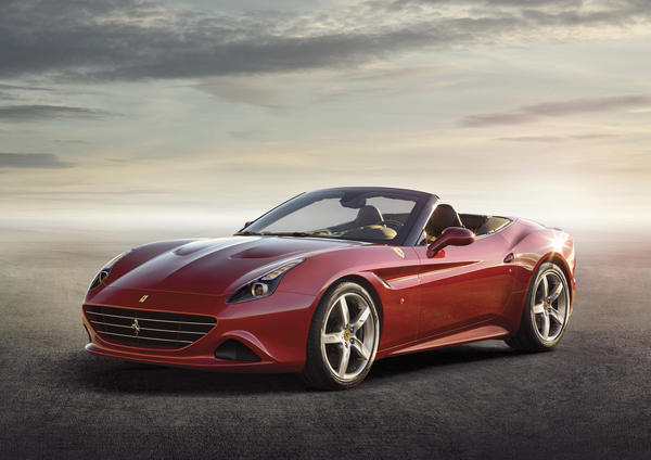 Ferrari's new California T will be unveiled at the Geneva Motor Show on March 4. The car uses a twin-turbocharged V-8 produces 553 horsepower and 557 pound-feet of torque.