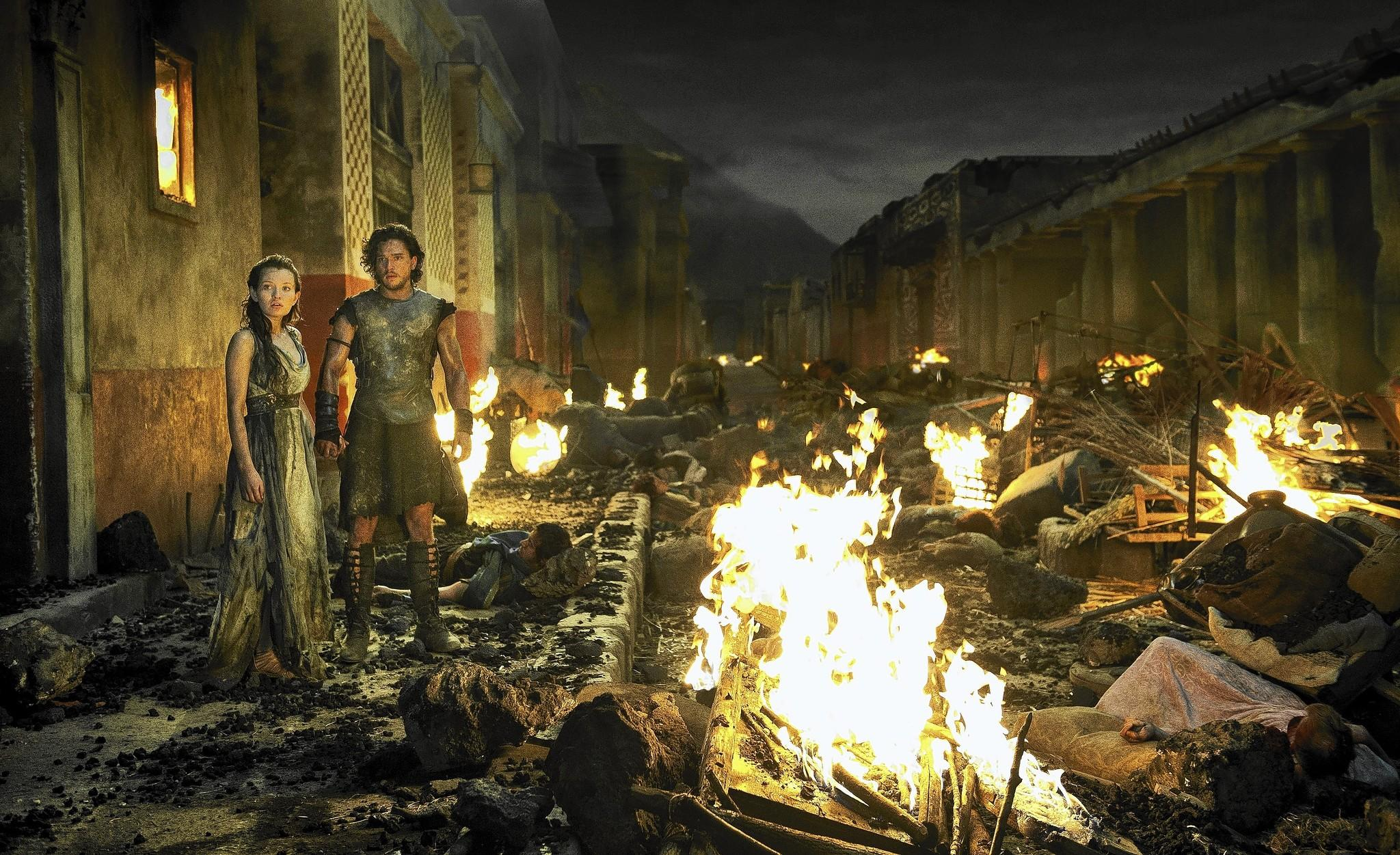 "Scene from the film ""Pompeii."""