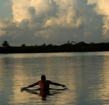 This file photo shows a triathlete warming up before the swimming portion of a race at Oleta River State Park in 2005.