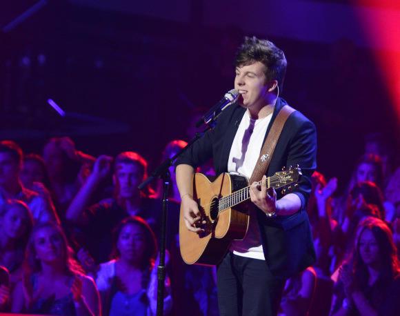 "Alex Preston shows his musical talent during ""American Idol"" Rush Week."