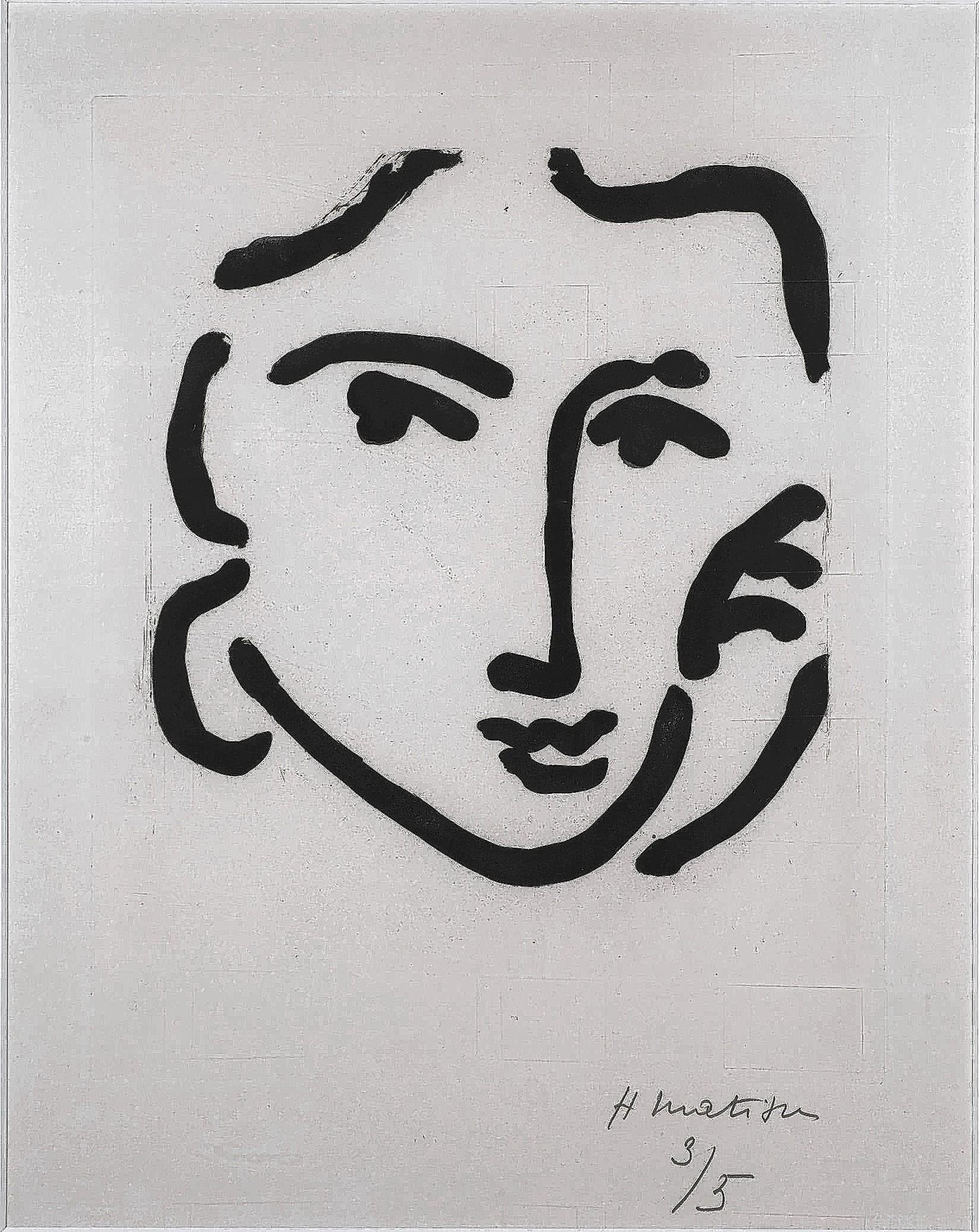 'Nadia With a Serious Expression' by Henri Matisse, 1948