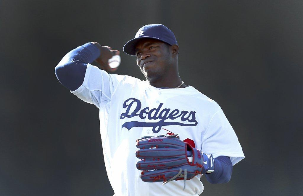 Yasiel Puig will sit out Thursday's workout because of a bruised thigh.