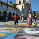 Santa Barbara: Chalk and the mission