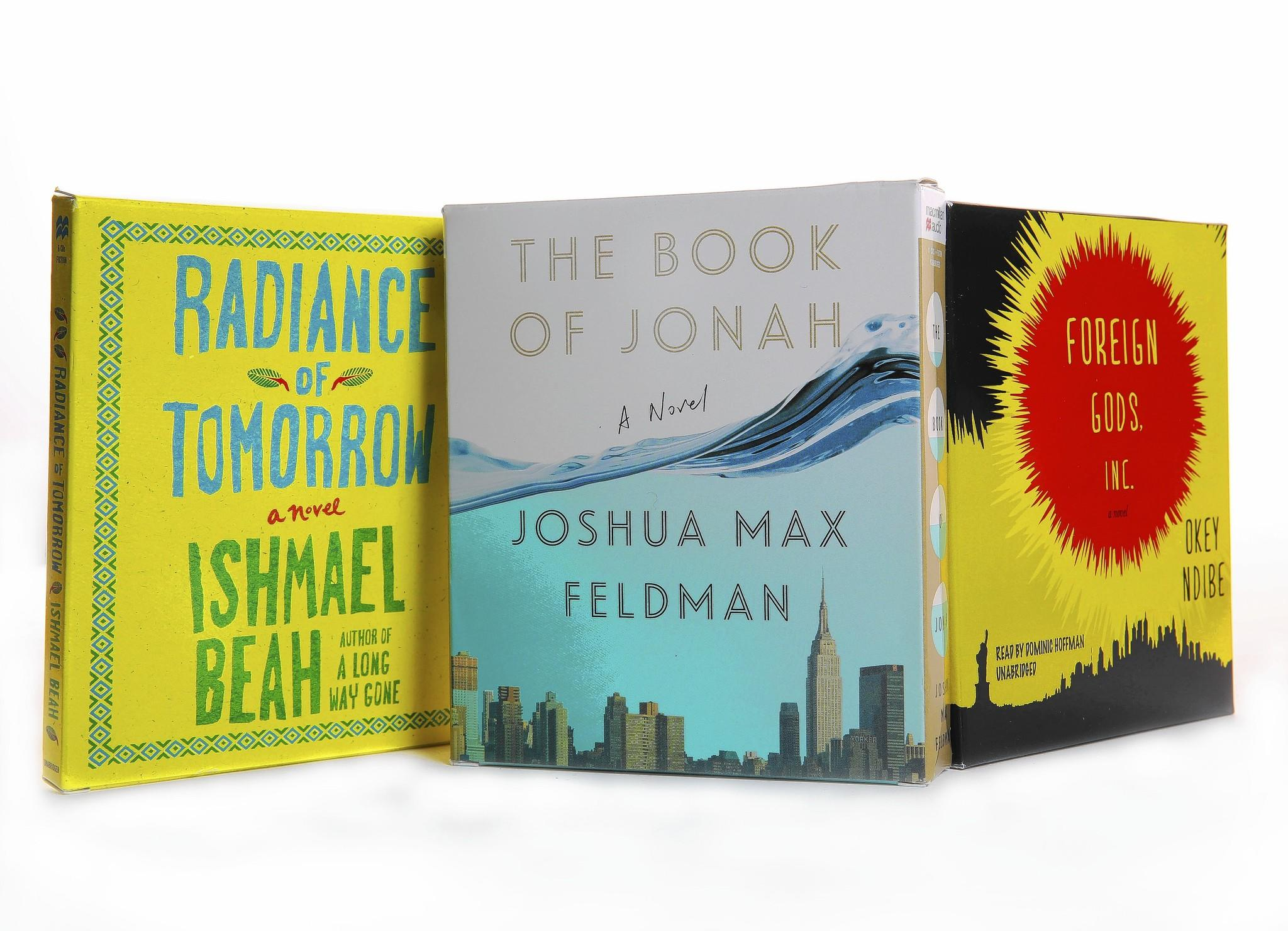 """""""Radiance of Tomorrow"""" by Ishmael Beah, """"The Book of Jonah"""" by Joshua Max Friedman, """"Foreign Gods, Inc."""" by Okey Ndibe"""