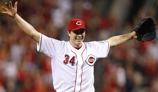 Cincinnati pitcher Homer Bailey celebrates after throwing a no-hitter last July.