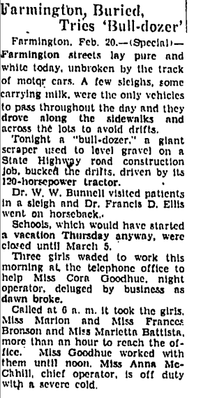 An article published in The Hartford Courant on Feb. 21, 1934.