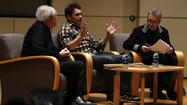 James Franco and poet Frank Bidart draw a crowd