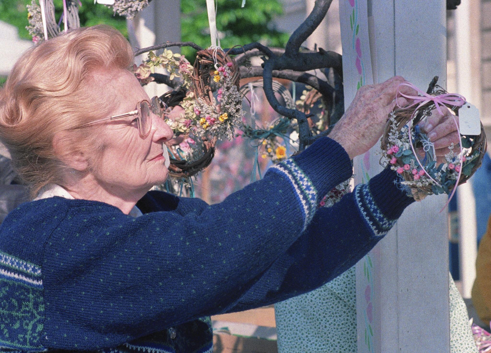 Jane Dickinson at the 1989 Flower Market